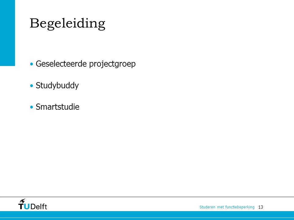 Begeleiding • Geselecteerde projectgroep Studybuddy Smartstudie