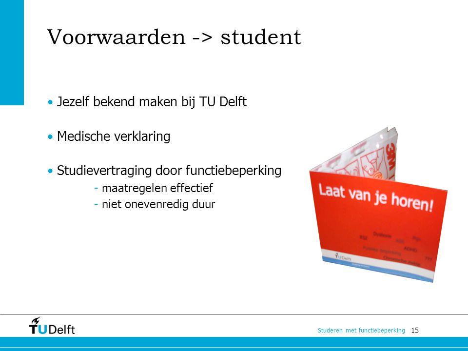 Voorwaarden -> student