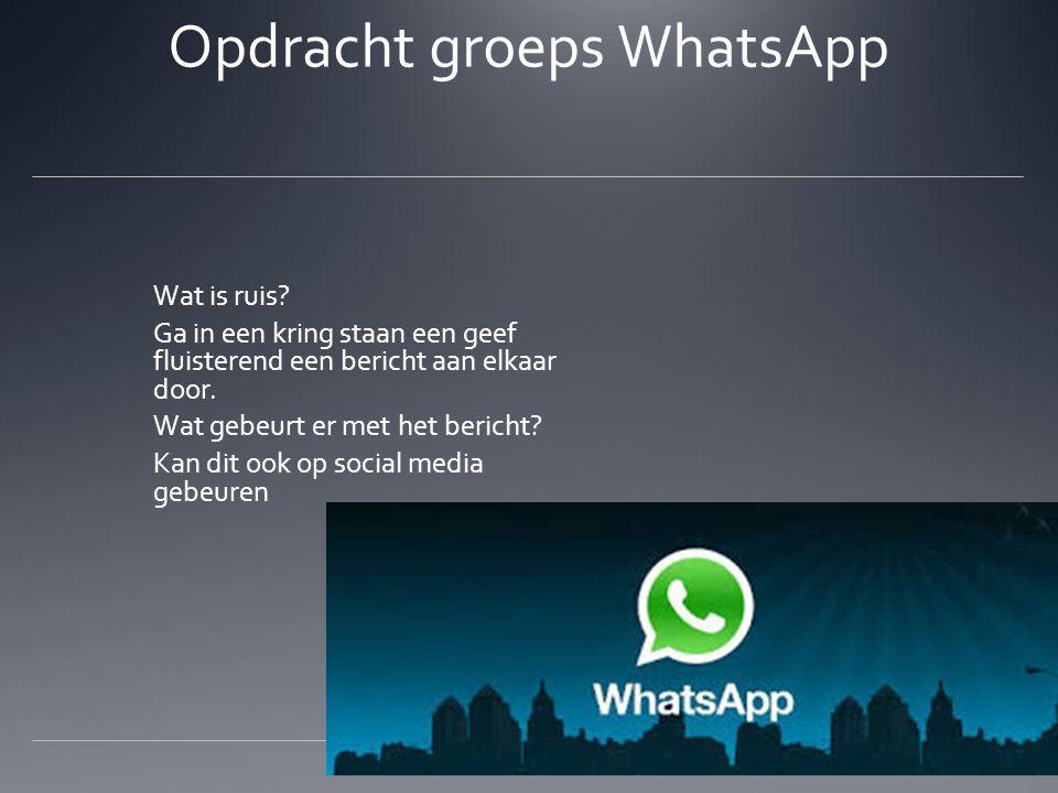 Opdracht groeps WhatsApp