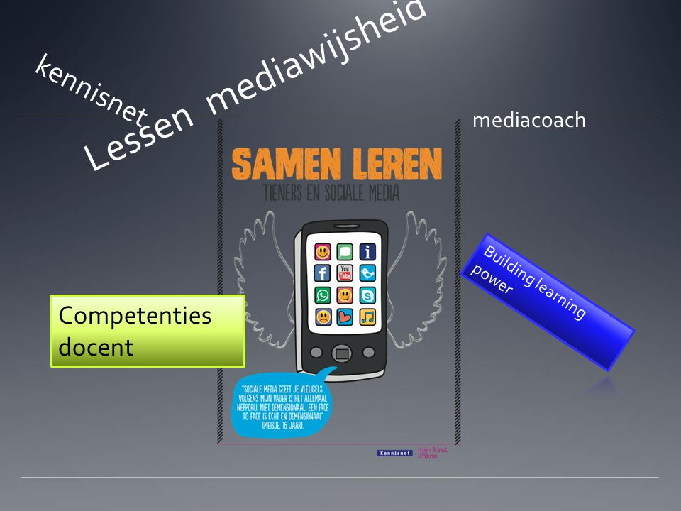Lessen mediawijsheid kennisnet Competenties docent mediacoach