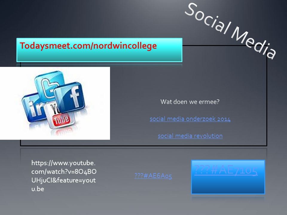 Wat doen we ermee social media onderzoek 2014 social media revolution