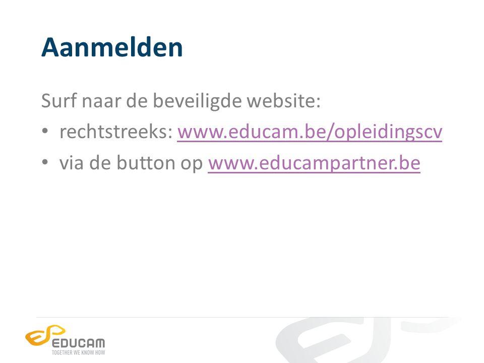 Aanmelden Surf naar de beveiligde website: