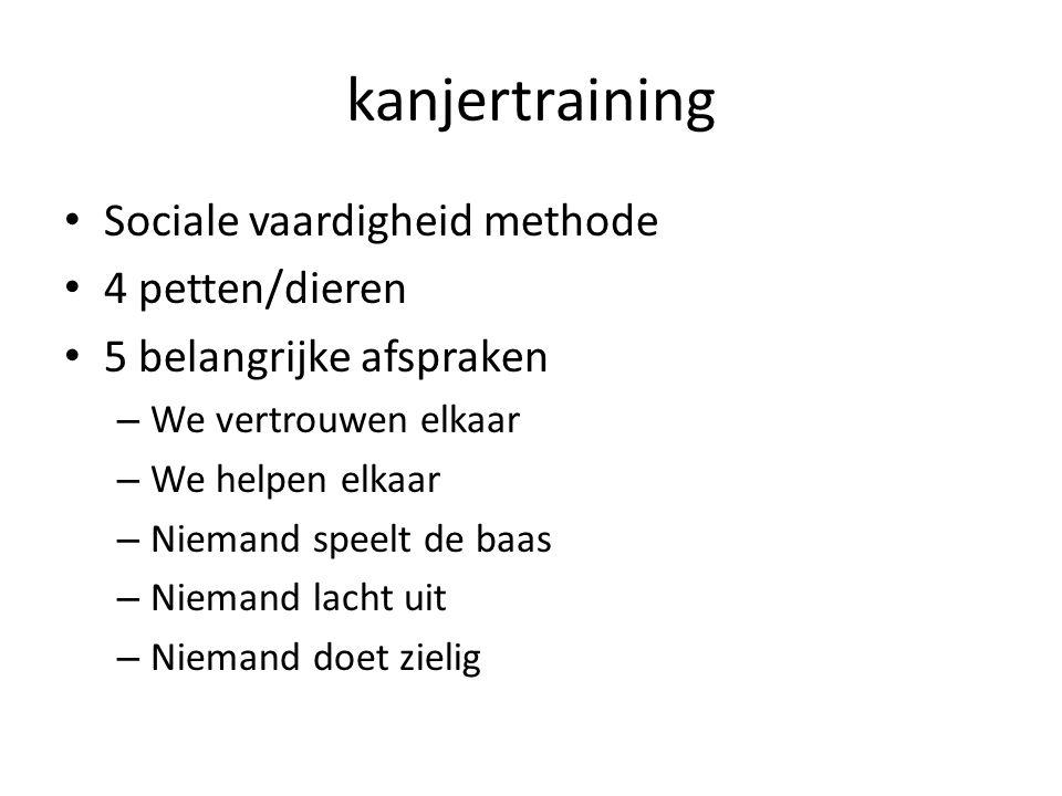 kanjertraining Sociale vaardigheid methode 4 petten/dieren