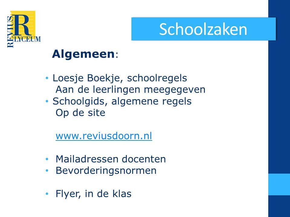 Schoolzaken Algemeen: Loesje Boekje, schoolregels
