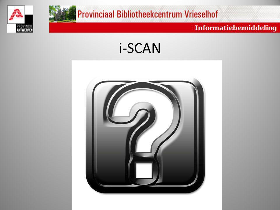 i-SCAN Wat leert de i-scan