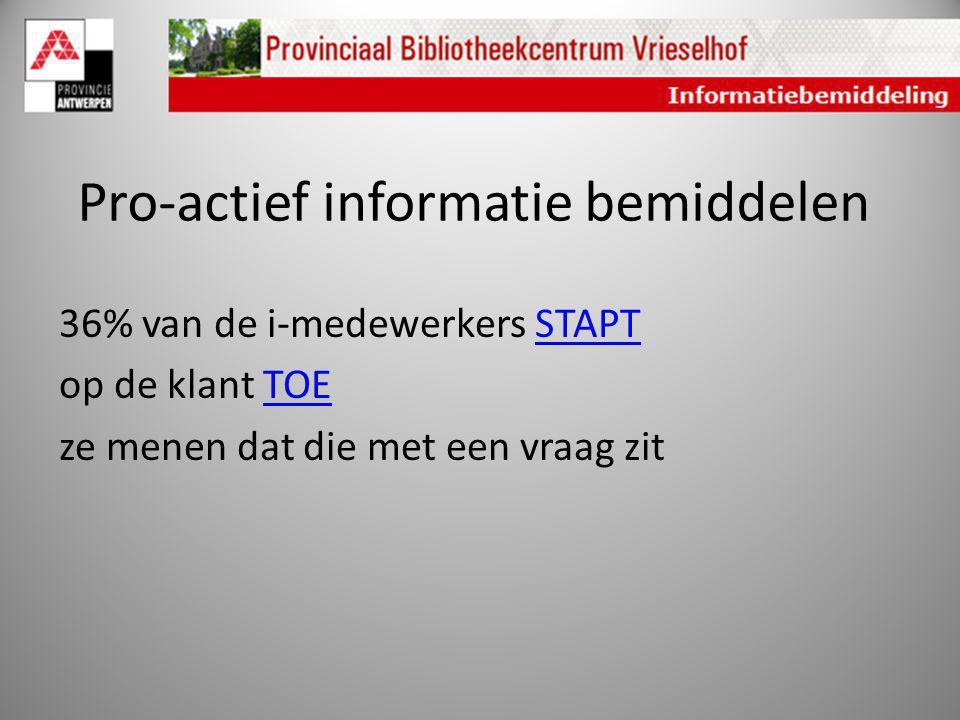 Pro-actief informatie bemiddelen
