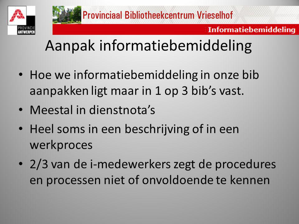Aanpak informatiebemiddeling