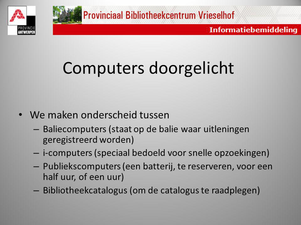 Computers doorgelicht