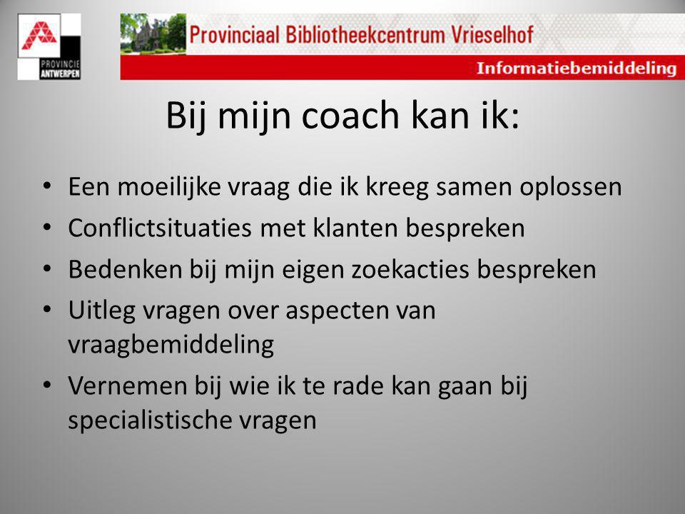 Bij mijn coach kan ik: Een moeilijke vraag die ik kreeg samen oplossen