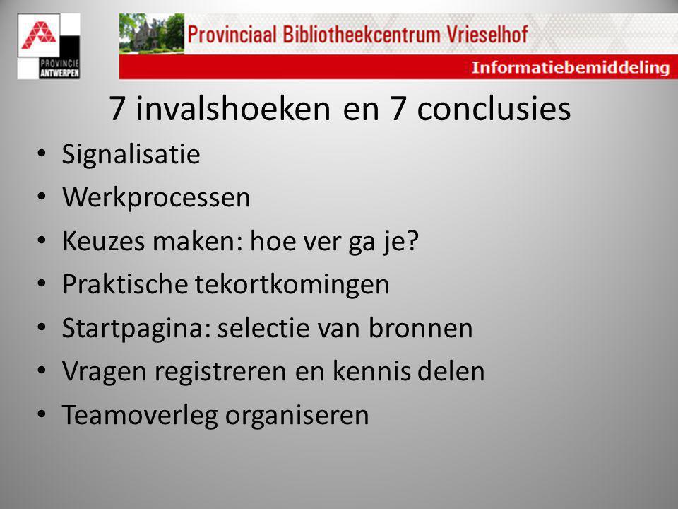 7 invalshoeken en 7 conclusies