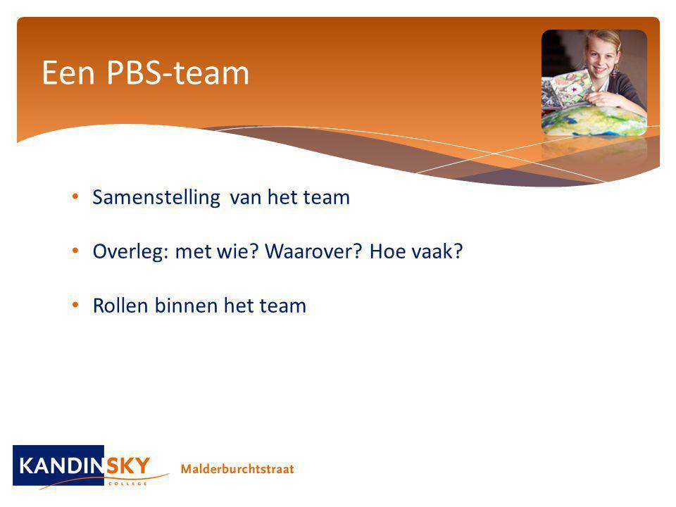 Een PBS-team Samenstelling van het team