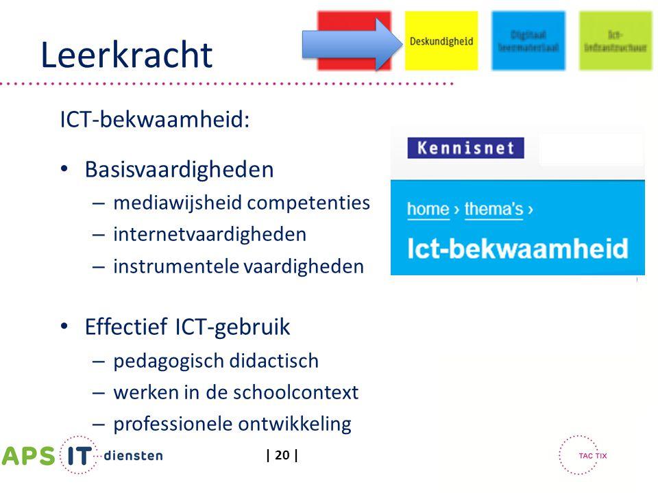 Leerkracht ICT-bekwaamheid: Basisvaardigheden Effectief ICT-gebruik