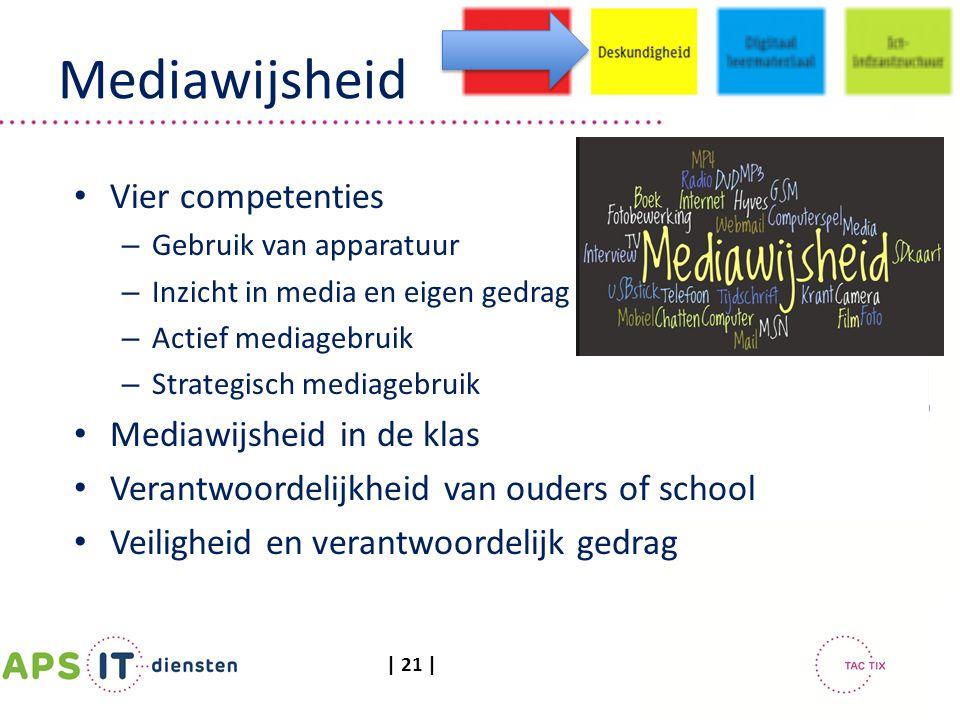 Mediawijsheid Vier competenties Mediawijsheid in de klas