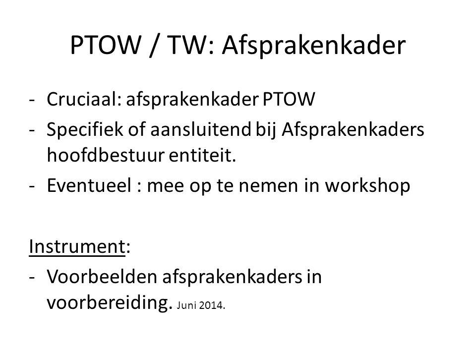 PTOW / TW: Afsprakenkader