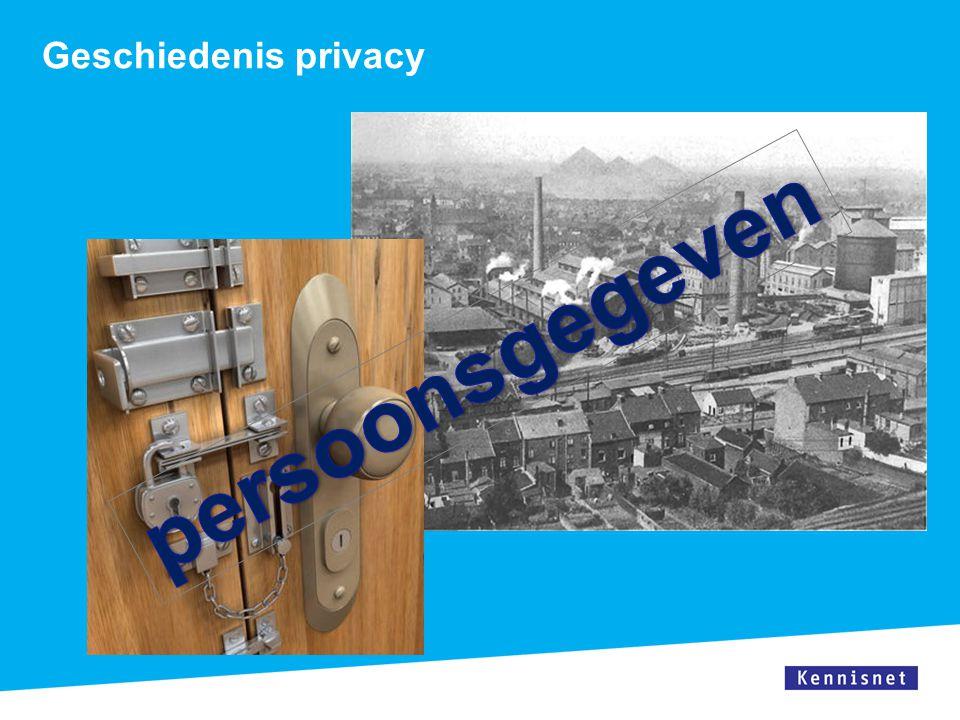 persoonsgegeven Geschiedenis privacy