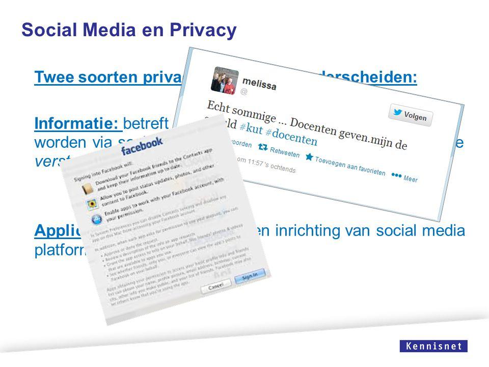 Social Media en Privacy