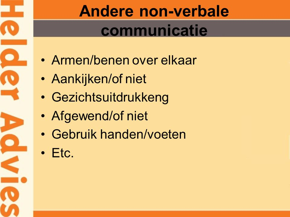 Andere non-verbale communicatie