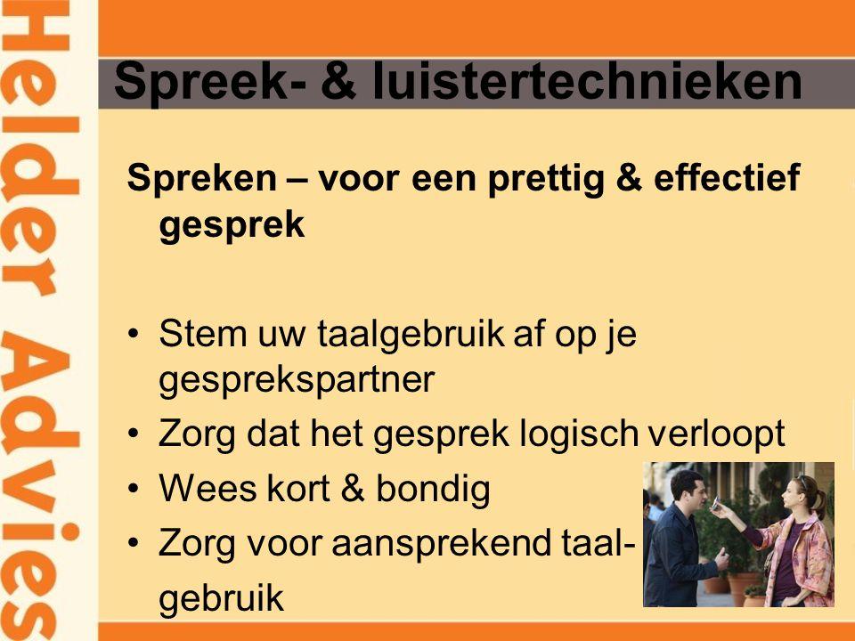Spreek- & luistertechnieken