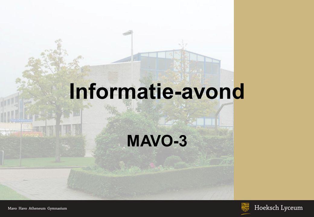 Informatie-avond MAVO-3 Keuzeonderwijs: