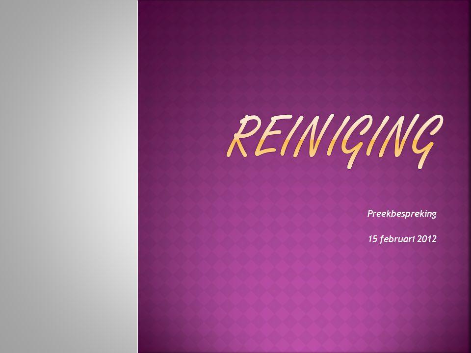 Preekbespreking 15 februari 2012