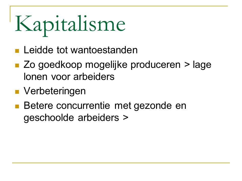 Kapitalisme Leidde tot wantoestanden