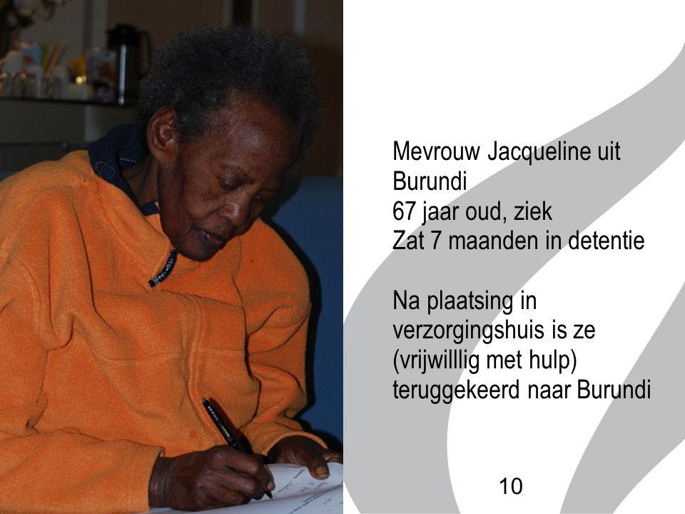 Mevrouw Jacqueline uit Burundi 67 jaar oud, ziek