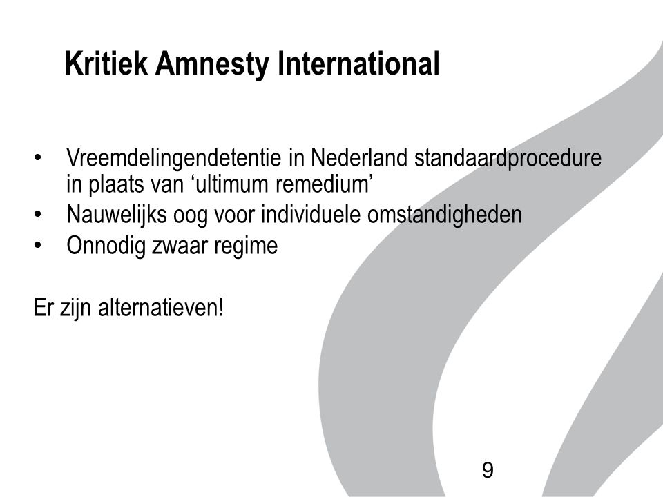 Kritiek Amnesty International