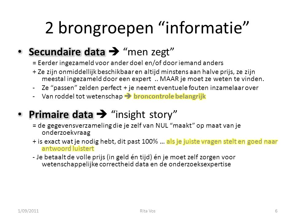 2 brongroepen informatie