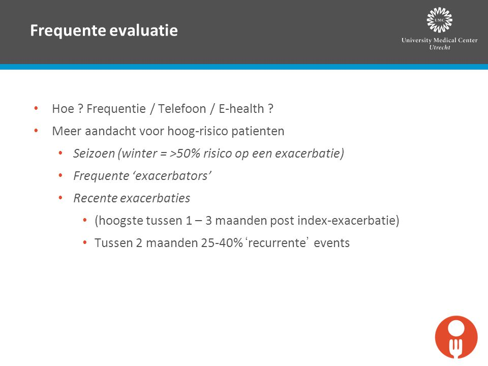 Frequente evaluatie Hoe Frequentie / Telefoon / E-health