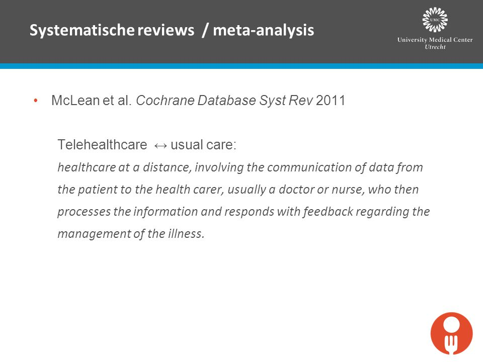 Systematische reviews / meta-analysis