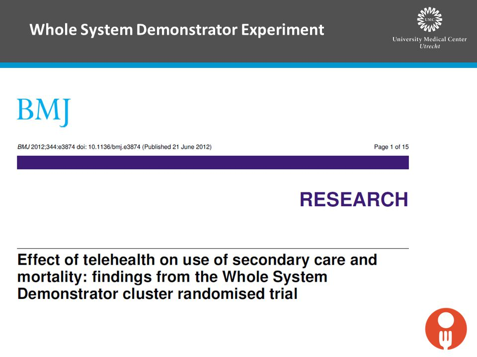 Whole System Demonstrator Experiment