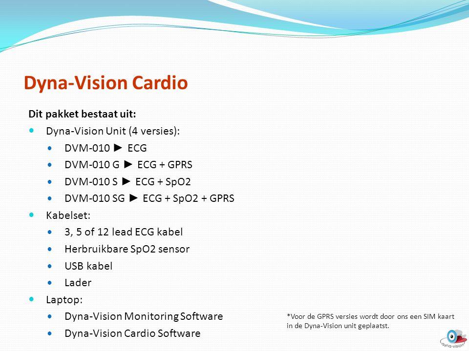 Dyna-Vision Cardio Dit pakket bestaat uit:
