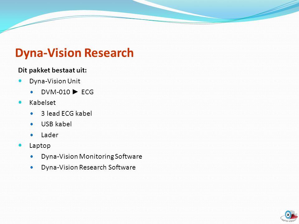 Dyna-Vision Research Dit pakket bestaat uit: Dyna-Vision Unit