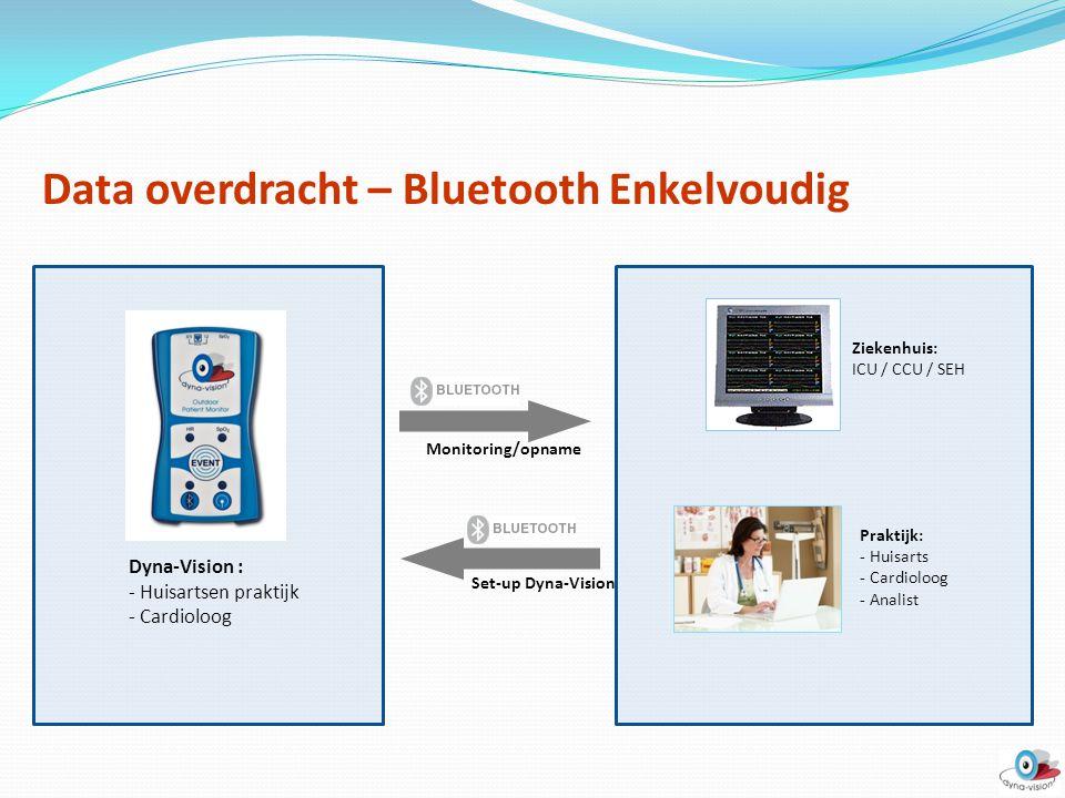 Data overdracht – Bluetooth Enkelvoudig