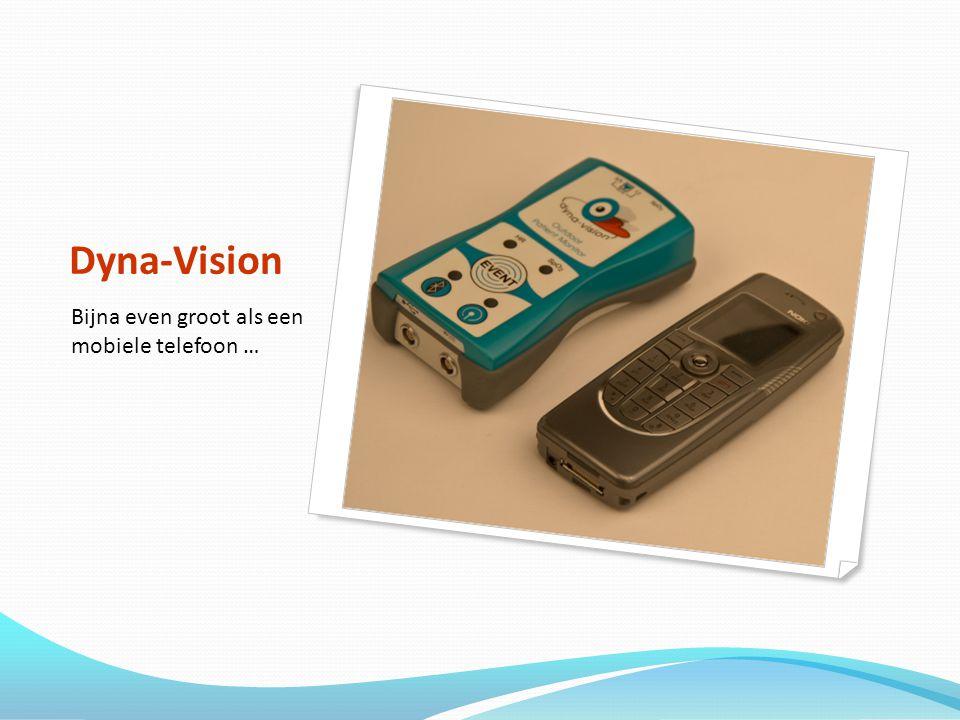 Dyna-Vision Bijna even groot als een mobiele telefoon …