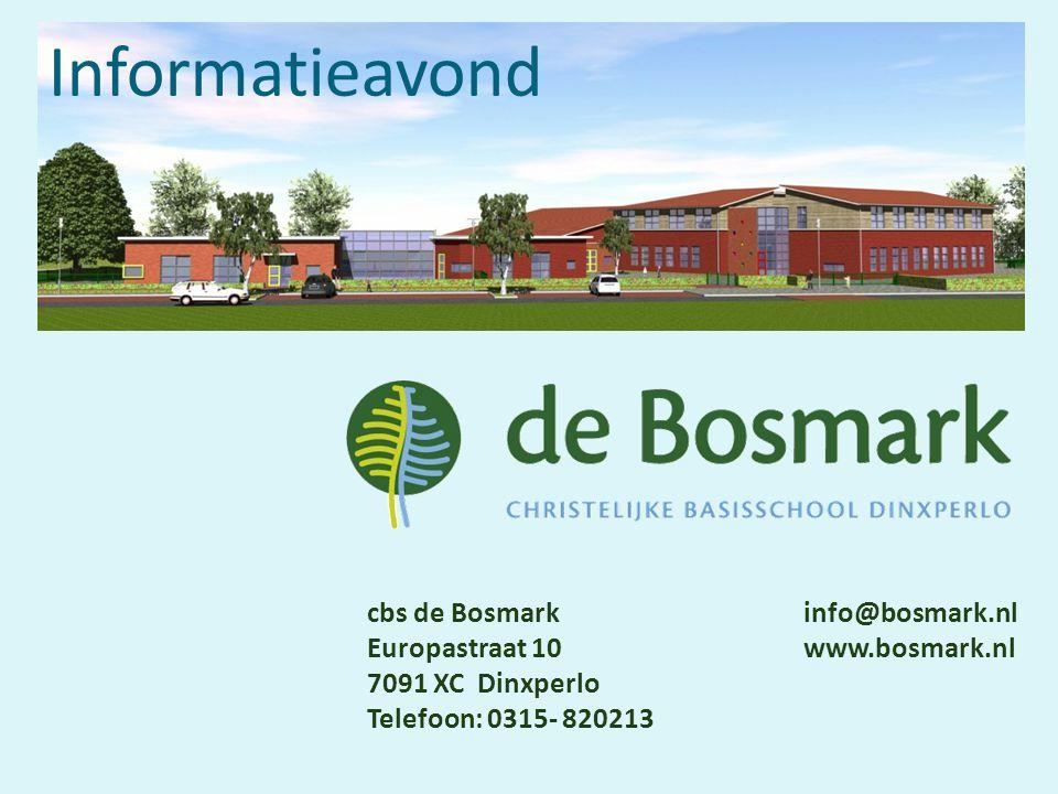 Informatieavond cbs de Bosmark info@bosmark.nl
