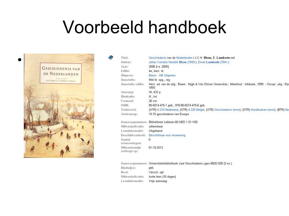 Voorbeeld handboek Was eerder een van de handboeken uit het eerste jaar.