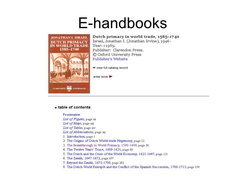 E-handbooks Voorbeeld e-handbook