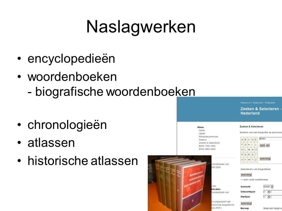 Naslagwerken encyclopedieën woordenboeken - biografische woordenboeken