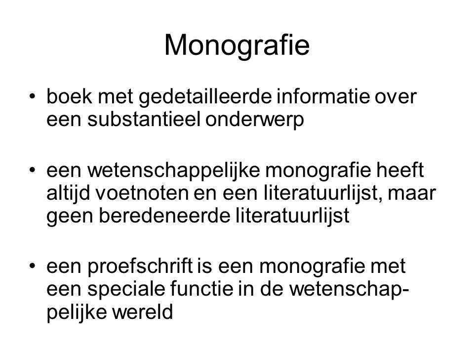 Monografie boek met gedetailleerde informatie over een substantieel onderwerp.