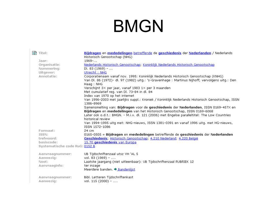 BMGN Catalogusbeschrijving BMGN