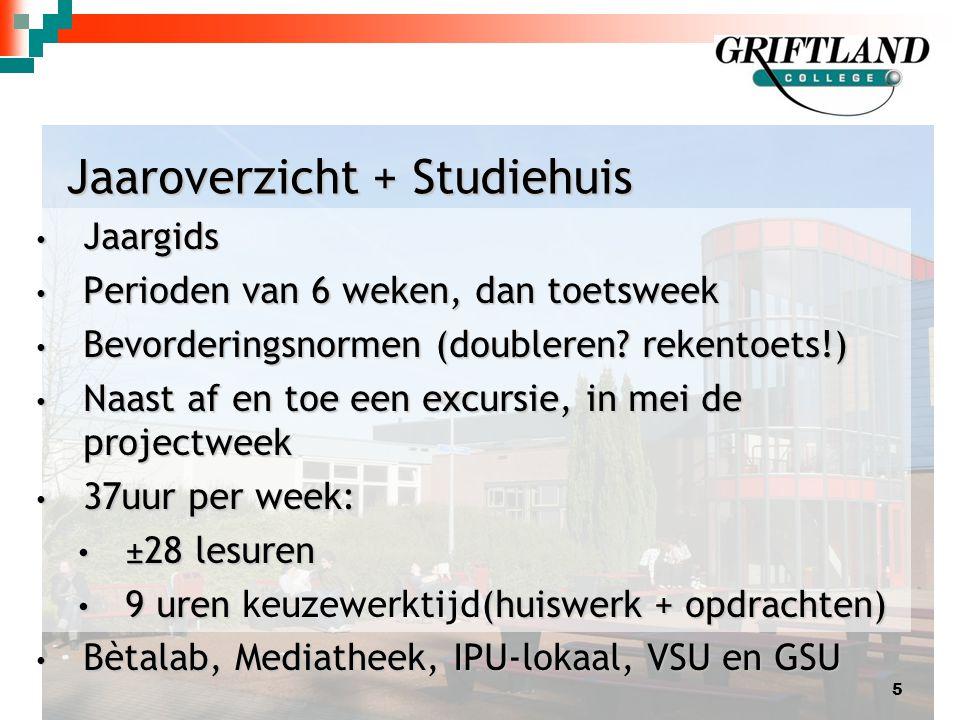 Jaaroverzicht + Studiehuis