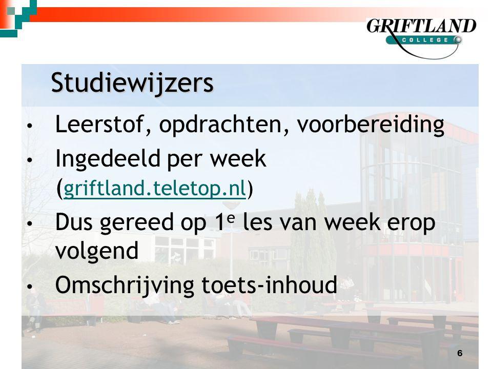 Studiewijzers Leerstof, opdrachten, voorbereiding