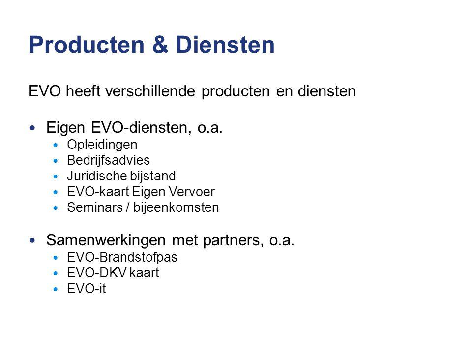 Producten & Diensten EVO heeft verschillende producten en diensten