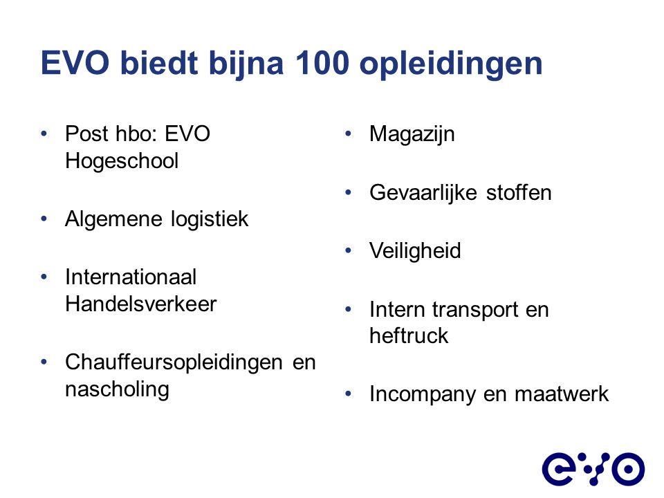 EVO biedt bijna 100 opleidingen