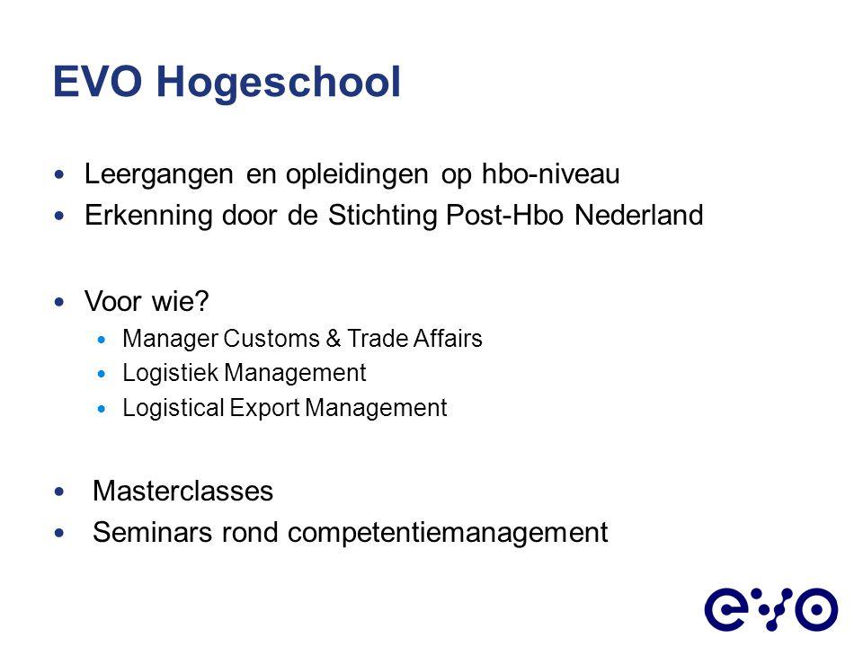 EVO Hogeschool Leergangen en opleidingen op hbo-niveau