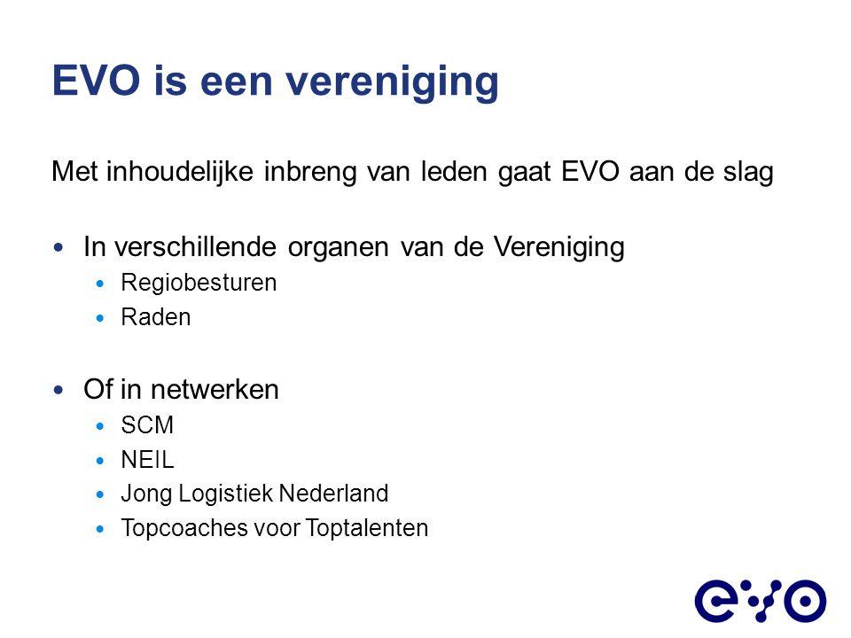 EVO is een vereniging Met inhoudelijke inbreng van leden gaat EVO aan de slag. In verschillende organen van de Vereniging.