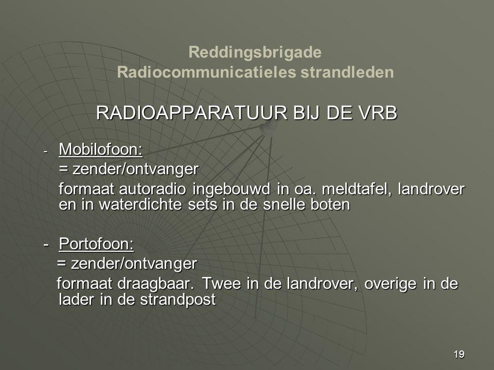 Reddingsbrigade Radiocommunicatieles strandleden