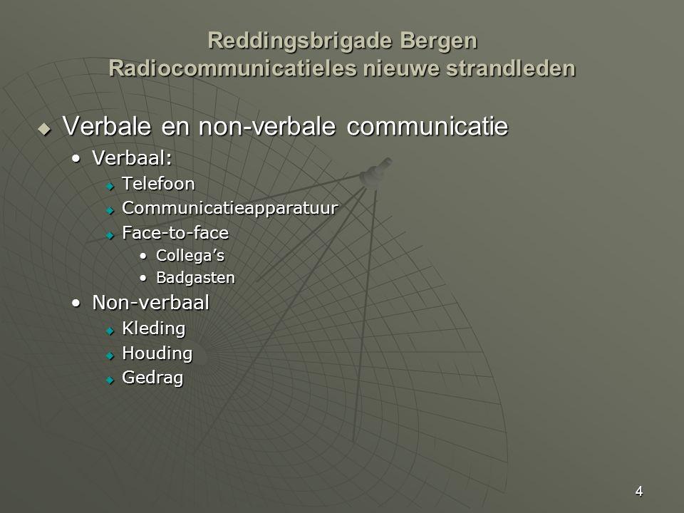Reddingsbrigade Bergen Radiocommunicatieles nieuwe strandleden