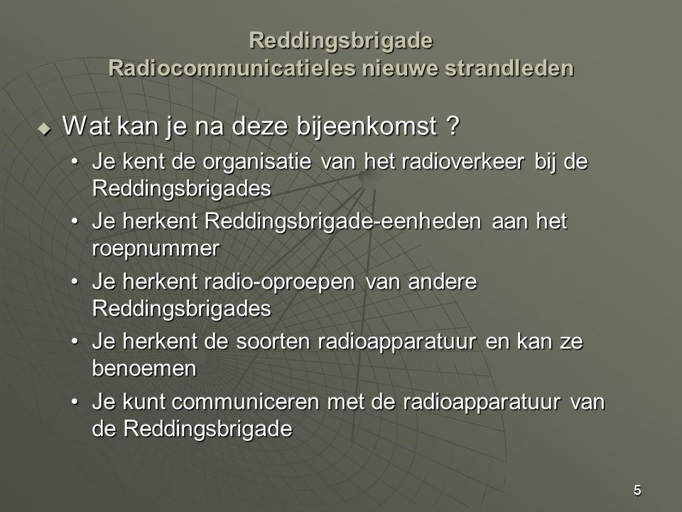 Reddingsbrigade Radiocommunicatieles nieuwe strandleden
